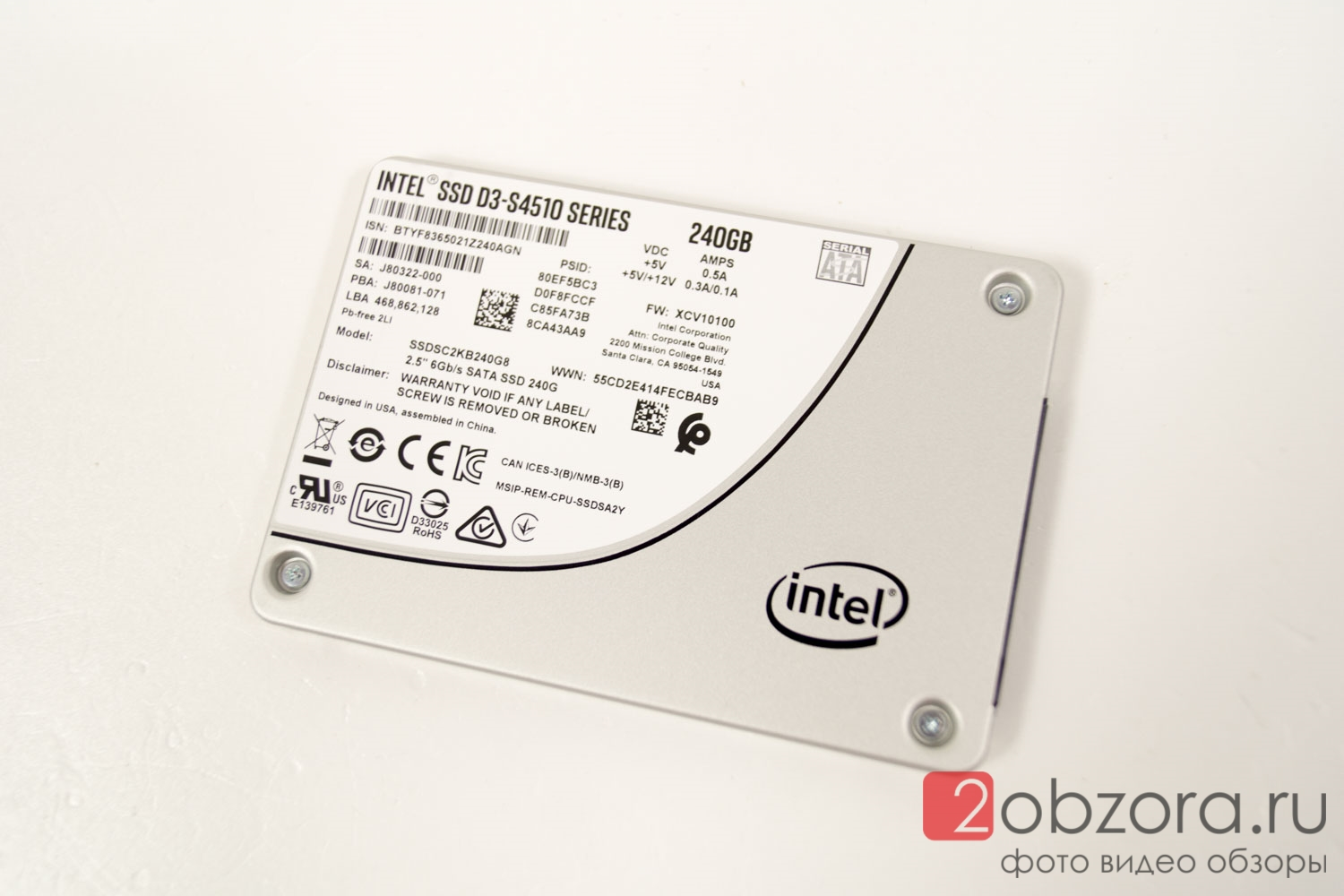 Intel SSD S4510 240Gb SSDSC2KB240G801