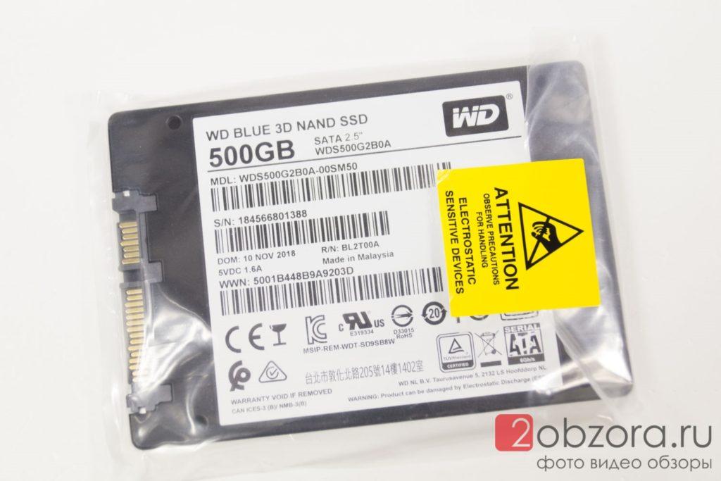 SSD диск WD Blue 500Gb (WDS500G2B0A)
