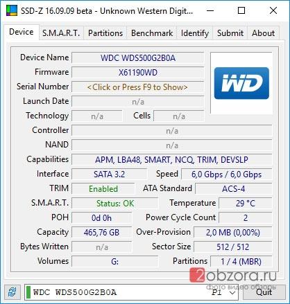 SSD диск WD Blue 500Gb (WDS500G2B0A) SSDZ