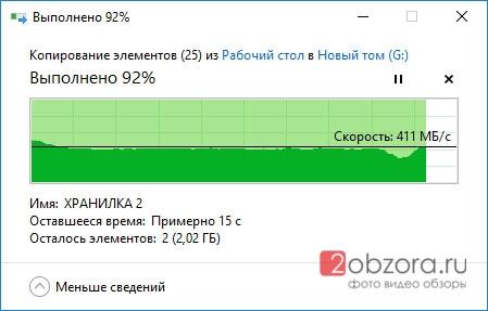 SSD диск WD Blue 500Gb (WDS500G2B0A) скорость копирования
